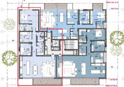 4 room apt. in a new project near Kikar Hamedina
