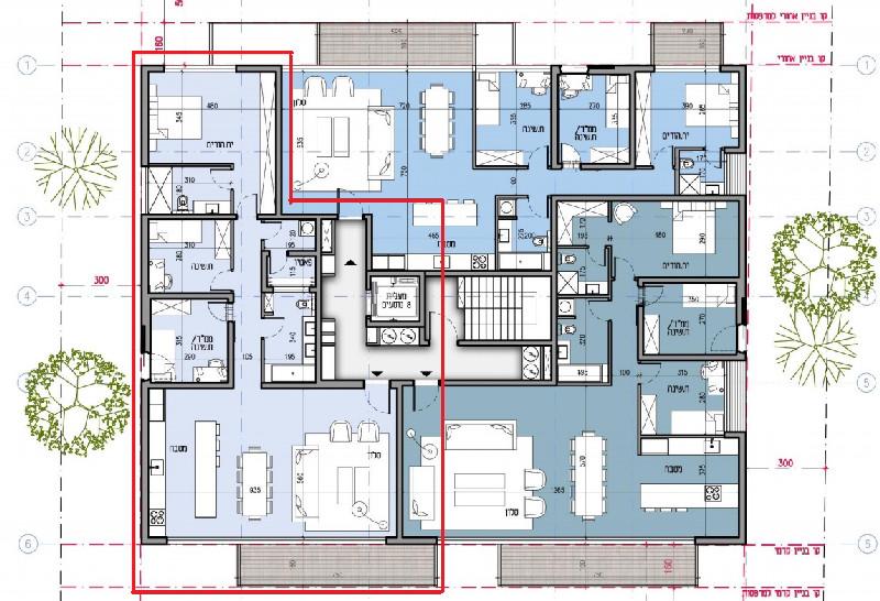 דירת 4 חדרים בפרויקט חדש ליד כיכר המדינה