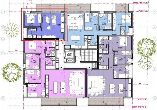 דירת 2 חדרים בפרויקט חדש ליד כיכר המדינה