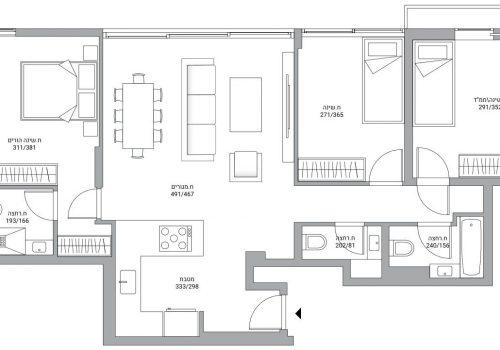 דירה בפוסט מספר: 241362